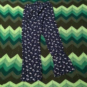 Old Navy Intimates & Sleepwear - NWOT Old Navy pajama pants whales navy ribbon tie